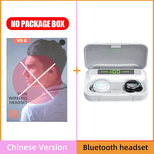 Bluetooth 5.0 Earphones 2200mAh Charging Box Wireless Headphone 9D Stereo Sport
