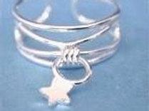 Dangle Star Toe Ring