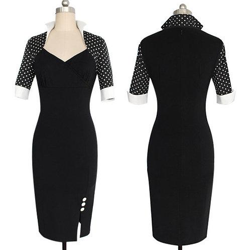 Black Polka Dot Sleeve Dress  AVICII SWISS Collab with Evelyn Belluci