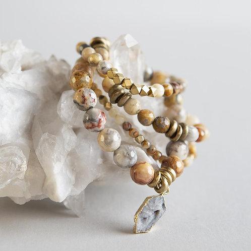 Mexican Agate Gemstone Bracelets