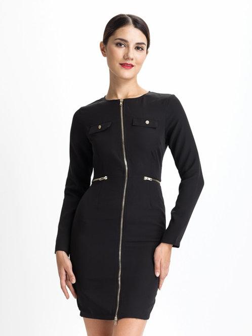 Black Zipper Dress AVICII SWISS - Evelyn Belluci Collaboration