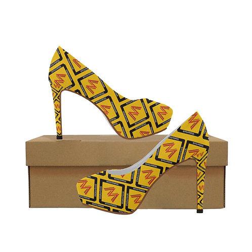 Women's Wakerlook Yellow High Heels