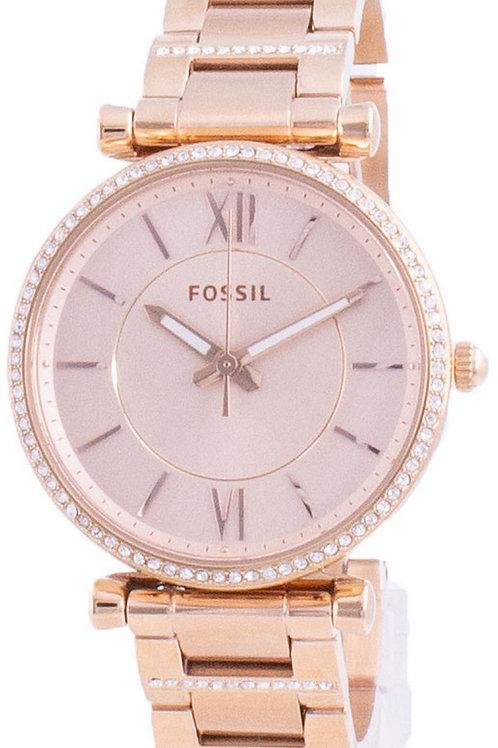 Fossil Carlie Diamond Accents Quartz ES4301 Women's Watch.