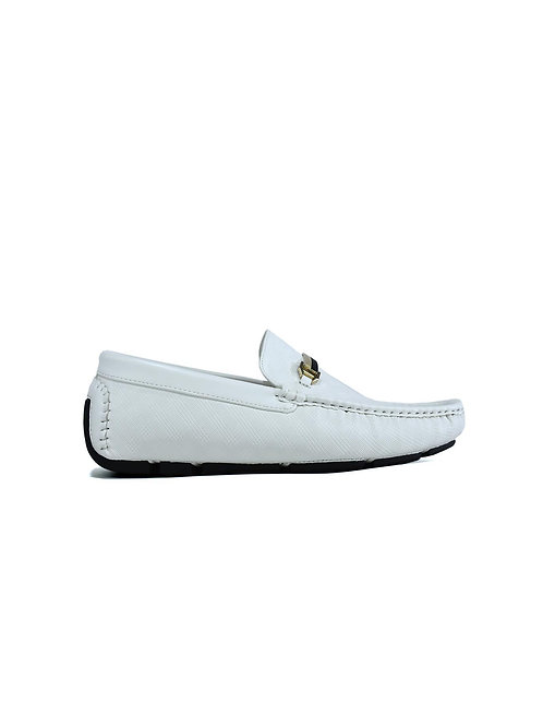 Gold Bar Loafer White