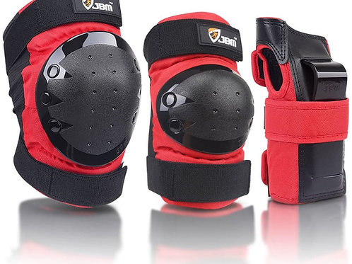 Adult/Child Knee Pads Elbow Pads Wrist Guards 3 in 1 Protective Gear Set for M