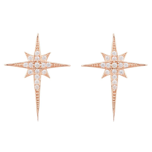 North Star Small Stud Earring Rosegold