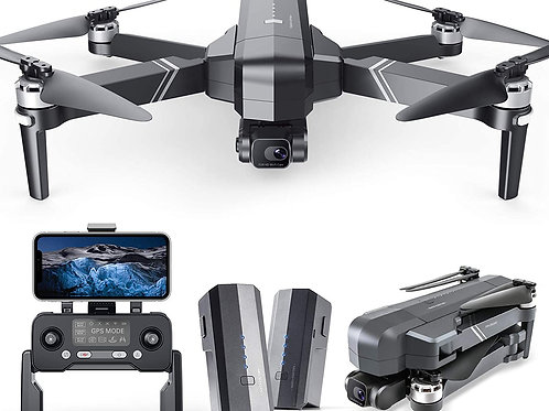 Drones with Camera for Adults, 2-Axis Gimbal 4K EIS Camera, 2 Batteries 56Mins