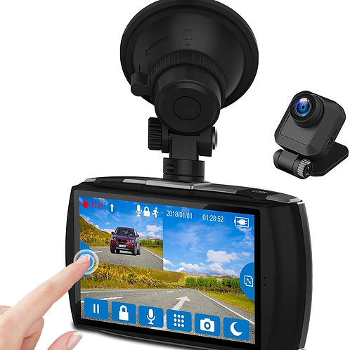 """Dual Dash Cam 4.0"""" Touch Screen Front and Rear Dash Cam FHD 1080P with Night Mo"""