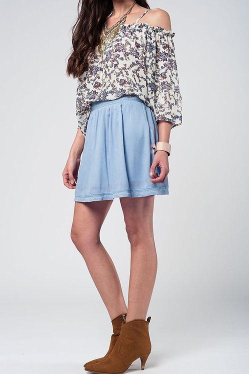 Aztec Blue Mini Skirt Q2- AVICII SWISS COLLABORATION