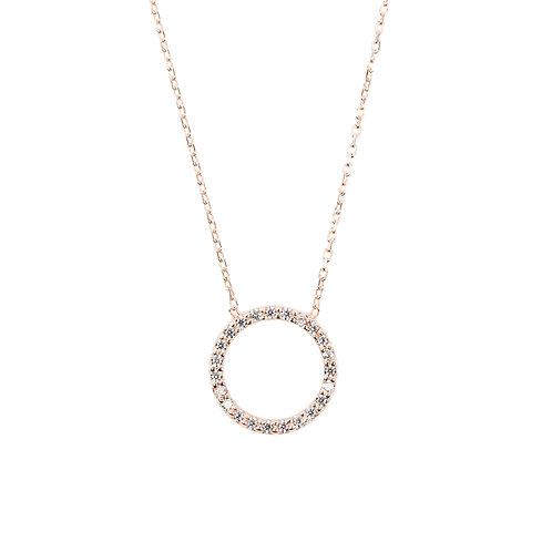 Halo Sparkling  Circle Necklace