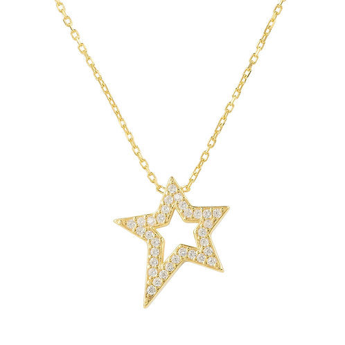 Open Star Pendant Necklace