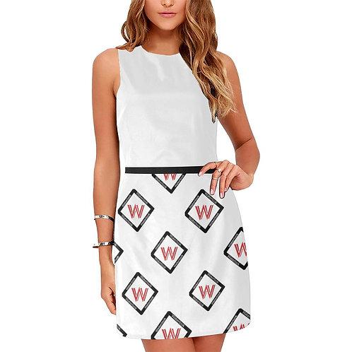 Women's Wakerlook White Sleeveless Dress