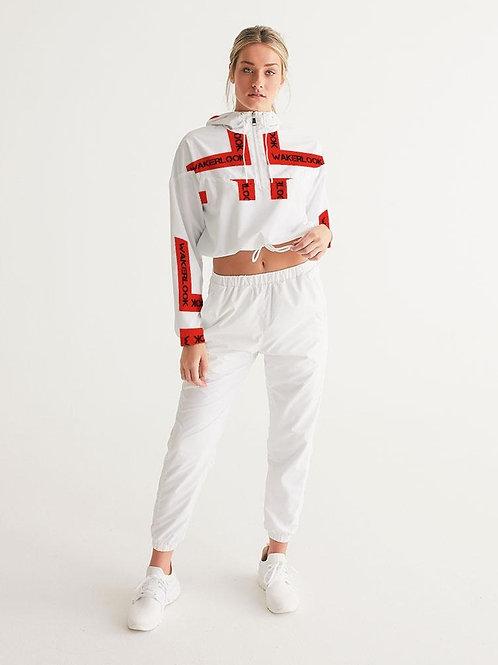 Fashion Wakerlook Women's Cropped Windbreaker