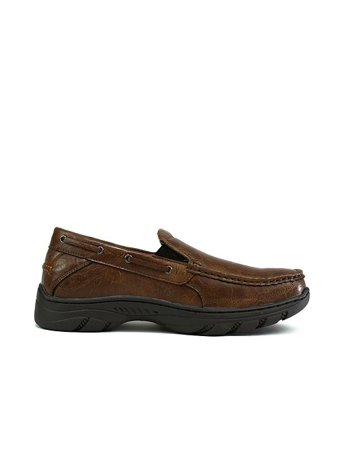 Men's Thick Sole Slip on Walking Shoes Brown