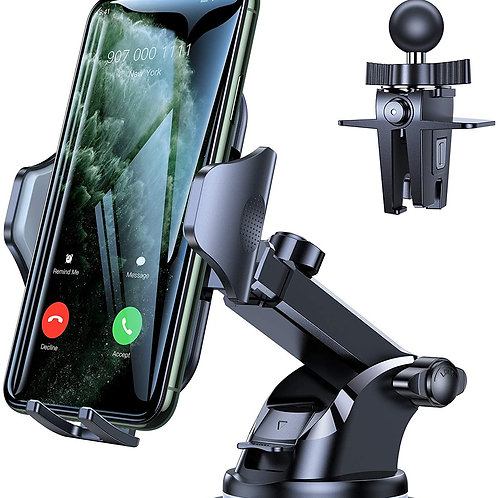 Car Phone Mount, [Thick Case & Big Phones Friendly] Long Arm Suction Cup Phone