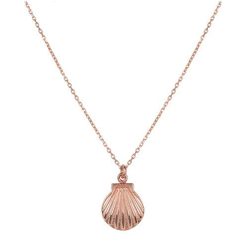 Scallop Mini Shell Necklace Rosegold