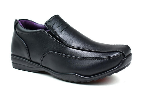 Comet Slip on School Shoes Black