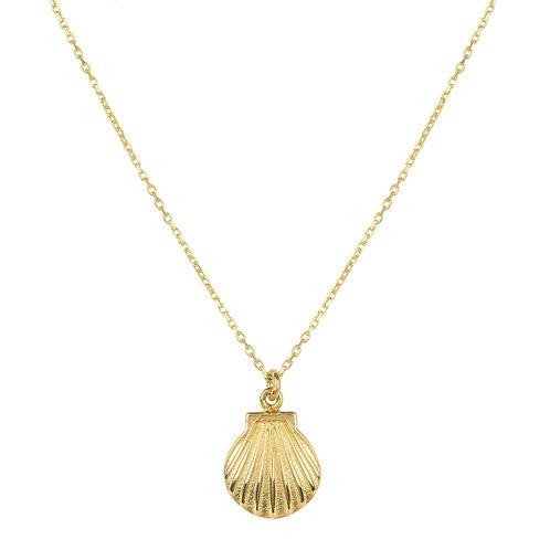 Scallop Mini Shell Necklace Gold