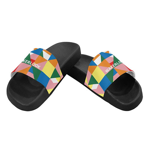 Wakerlook Triangle Abstract  Men's Slide Sandals
