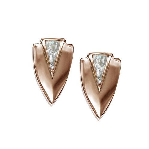 Chevron Earrings- Rose