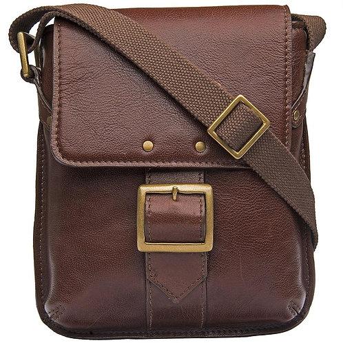 Vespucci Small Unisex Buffalo Leather Crossbody Bag