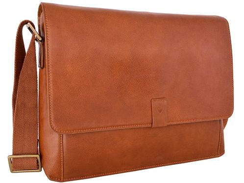 Aiden Leather Business Laptop Messenger Cross Body Bag