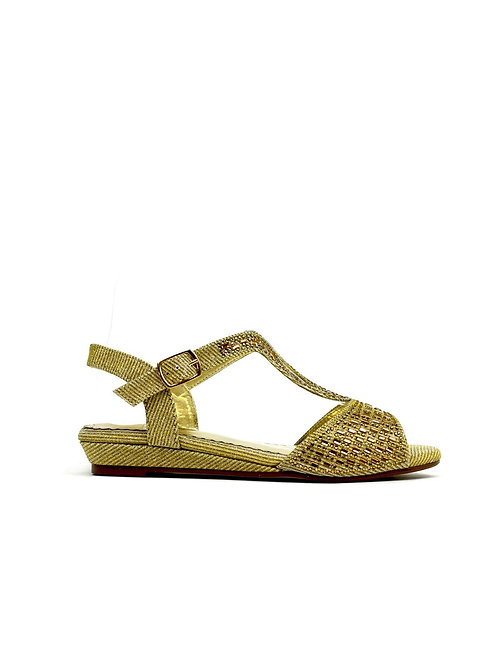 Low Wedge Glamour Gold