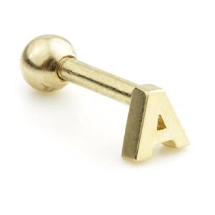 14ct Gold Letter Bar - 'A'