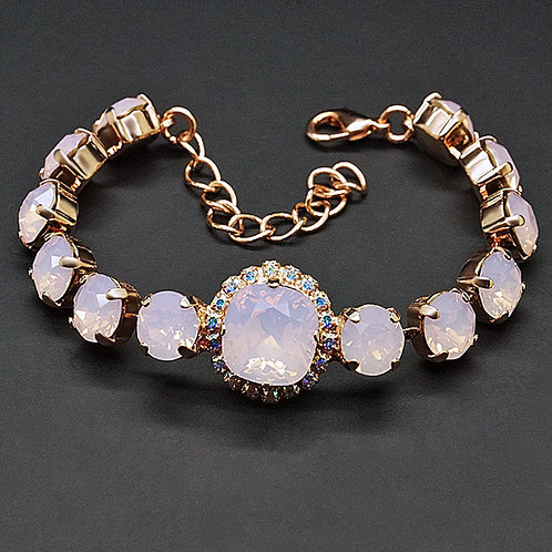 "Bracelet ""Glare III (Rose Water Opal)"" with crystals from Swarovski™"