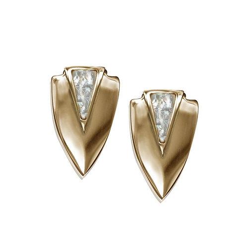 Chevron Earrings- Gold
