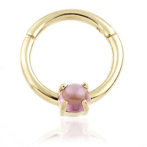 14ct Gold Rhodolite Daith Ring