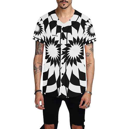 Wakerlook Men's All Over Print White Jersey
