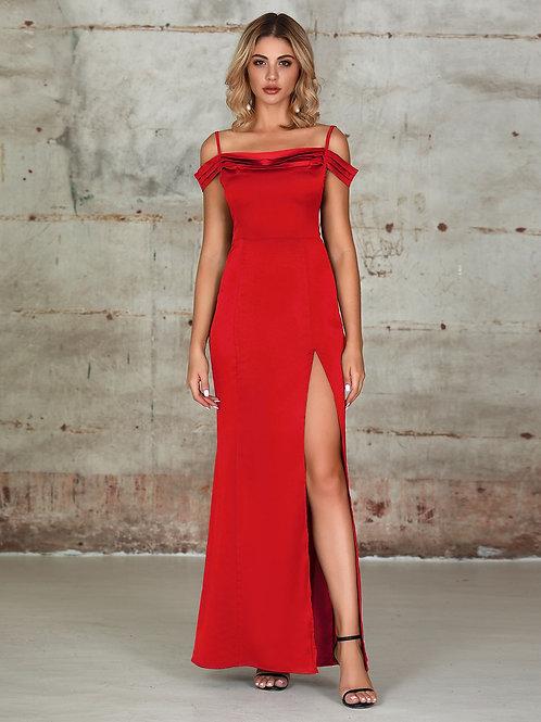 AVICII SWISS Split Thigh Cami Satin Dress
