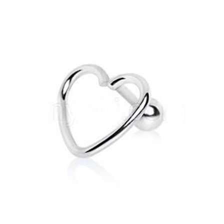 316L Stainless Steel Love Struck Heart Cartilage Earring