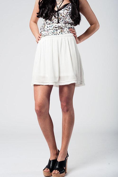 Aztec White Mini Skirt Q2- AVICII SWISS COLLABORATION