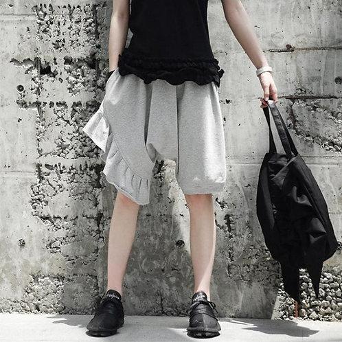 Neems Asymmetrical Shorts - Grey