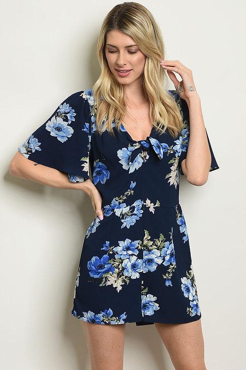 AVICII SWISS Womens Navy Floral Romper