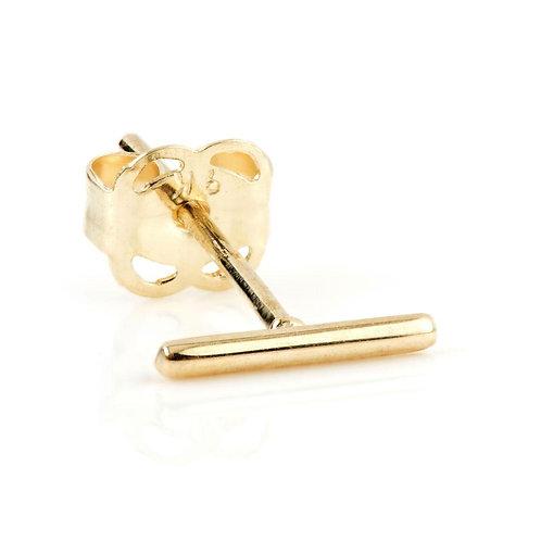 9ct Gold Bar Stud Earring