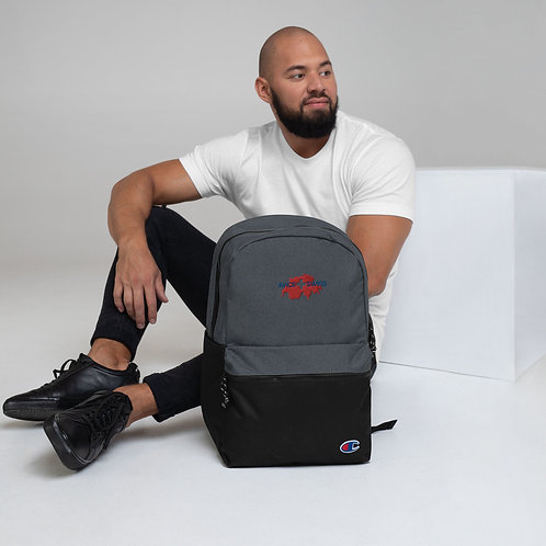 Embroidered AVICII SWISS Collaboration with Champion Backpack