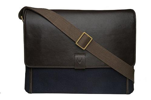 Aiden Canvas Leather Laptop Messenger
