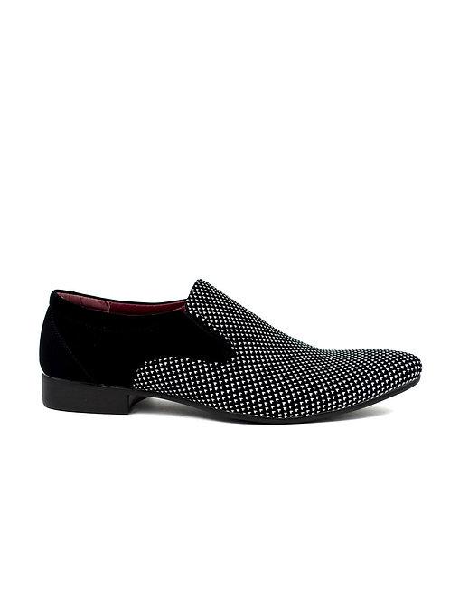 Men's Contrast Slip on White/Black