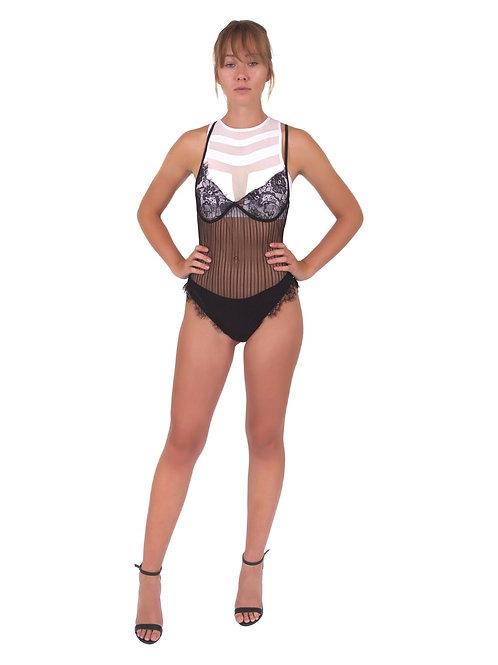 Hythe Lace Lingerie Bodysuit - Black