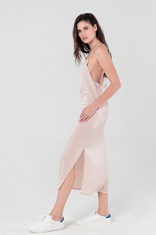 Cami Slip Dress in Beige Q2- AVICII SWISS COLLABORATION