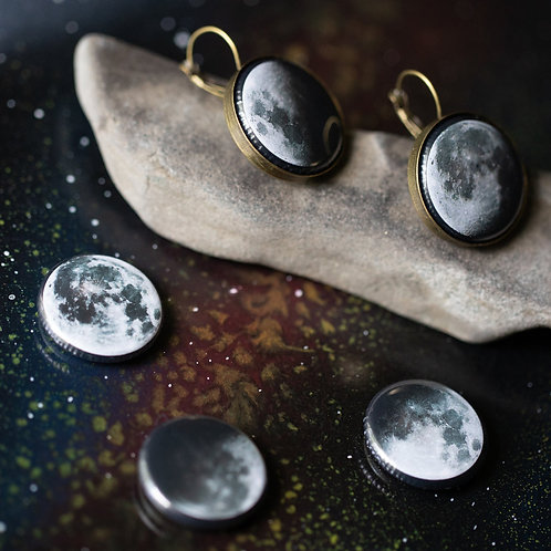 Interchangeable Moon Phase Earrings