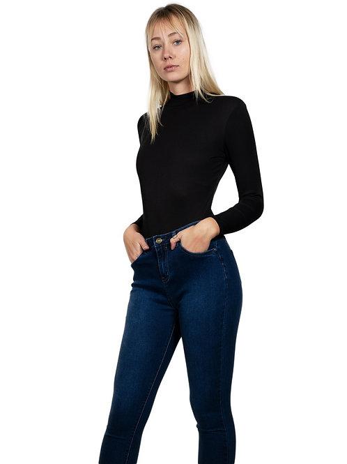 Beverly Zip-Up Ribbed Bodysuit- AVICII SWISS