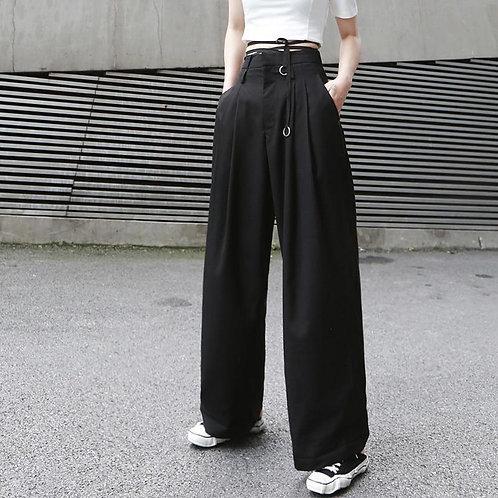 Mariya High Waist Long Wide Leg Pants