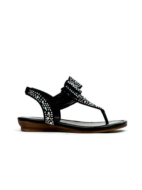The Holiday Sandal Black