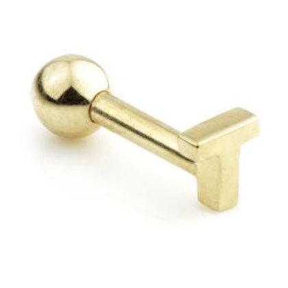 14ct Gold Letter Bar - 'T'