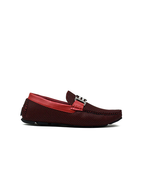 Double H Buckle Loafer Red