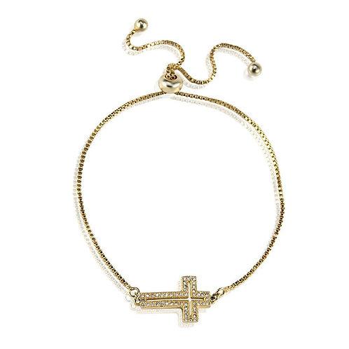 Cross Bracelet -Gold